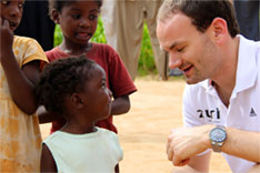 Philipp Sayler, Co-Founder von zuri Bikes, in Sambia